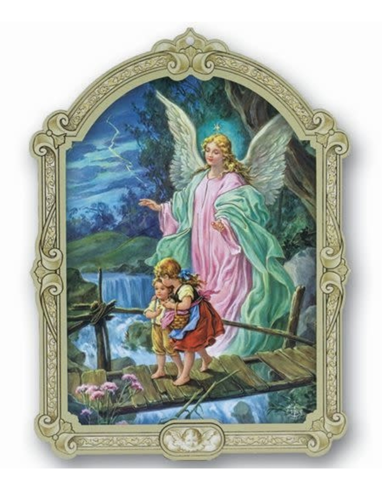 """Cathedral Plaque Guardian Angel 9"""""""