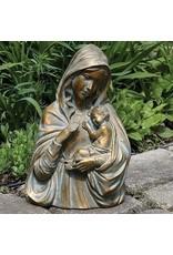 """Statue Madonna & Child Bust 14.25"""""""