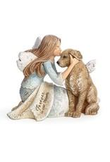 Angel w/Dog Figurine