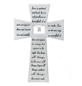 "Love Never Fails Wall Cross 7"""