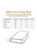 Bible Cover Medium Funda para Biblias, Café - Jeremías 29:11