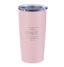 Trust in the Lord Pink Travel Mug - Proverbs 3:5