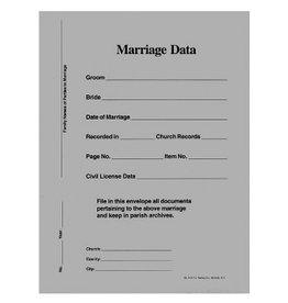 Marriage Data Envelopes 9x12