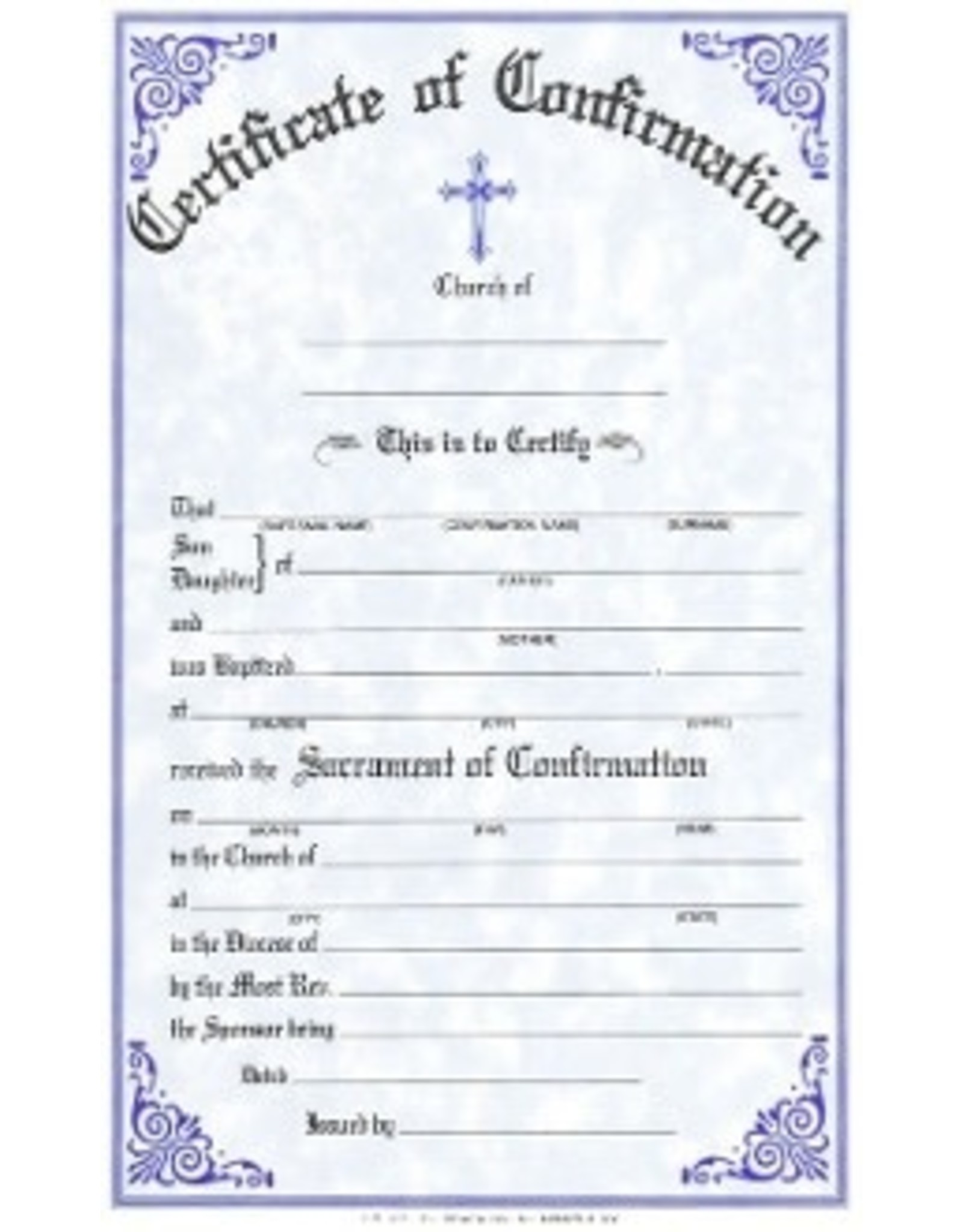 Confirmation Certificates (Pad of 50)