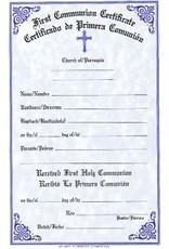 Spanish First Communion Certificates (Pad of 50)