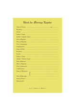 Marriage Register Blanks (Pad of 50)