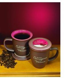 Mug with Coaster - Courageous Woman