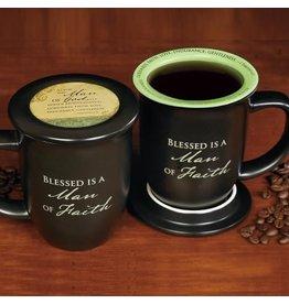 Mug with Coaster - Man of Faith