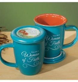 Mug with Coaster - Woman of Faith