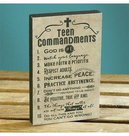 Plaque - Teen Commandments 8x5