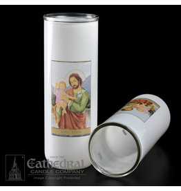 5, 6, 7-Day Glass Globe - St. Joseph (Each)