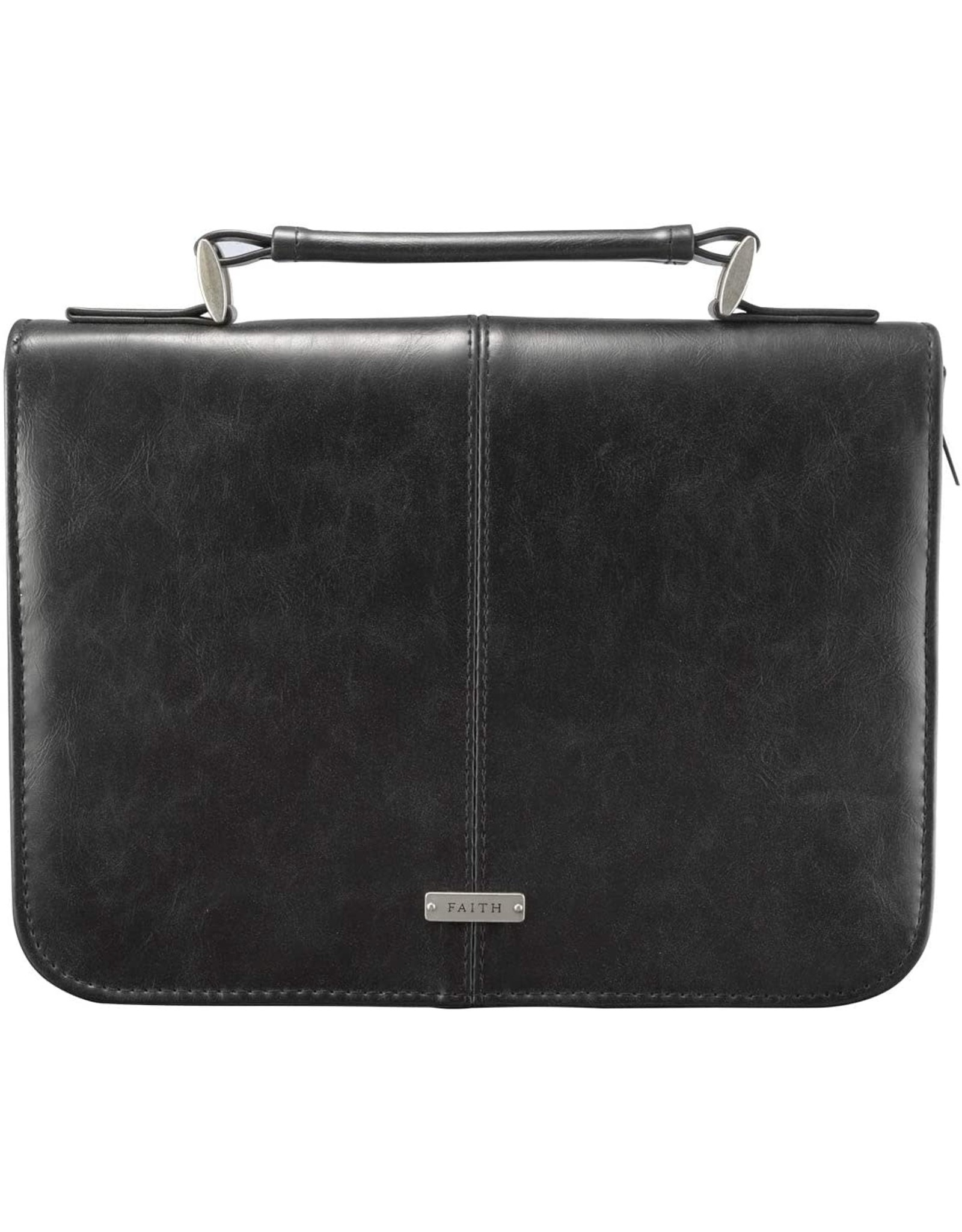 Bible Cover-Large-Black Leather-Look