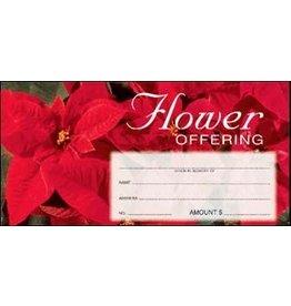 Offering Envelopes-Flower-Christmas Poinsettia (100)