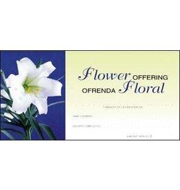 Offering Envelopes-Flower-Easter Lily-Bilingual (100)