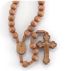 Light Brown Bead Cord Rosary