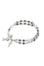 Rosary Bracelet - Aurora Borealis Crystal Bead