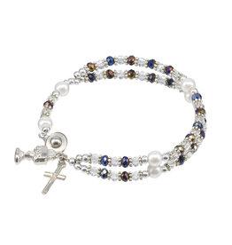 Aurora Borealis Crystal Bead Rosary Bracelet
