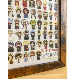 """Do Not Be Afraid to be Saints"" Framed Art Print (8x10)"