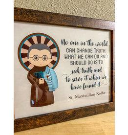 St. Maximilian Kolbe Framed Art Print
