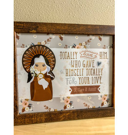 St Clare of Assisi Framed Art Print