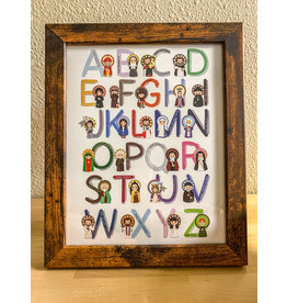 Saints Alphabet Framed Art Print