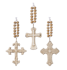 Small Cross with Beaded Hanger