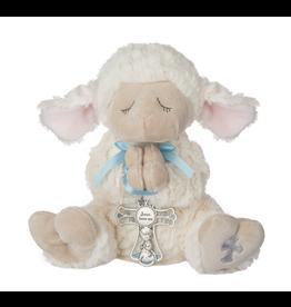 Serenity Lamb with Crib Cross (Blue)