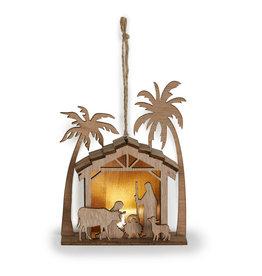 Laser Cut Wooden Nativity Ornament
