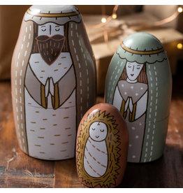 Nesting Nativity Set (3 pc)