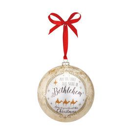 Bethlehem Jumbo Glass Ball Ornament