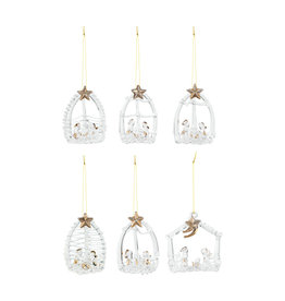 Crystal Nativity Ornaments, Assorted