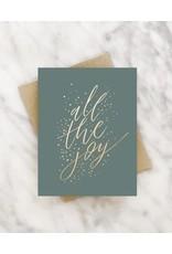 """All the Joy"" Christmas Greeting Card"
