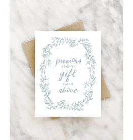 Precious Gift from Above Greeting Card