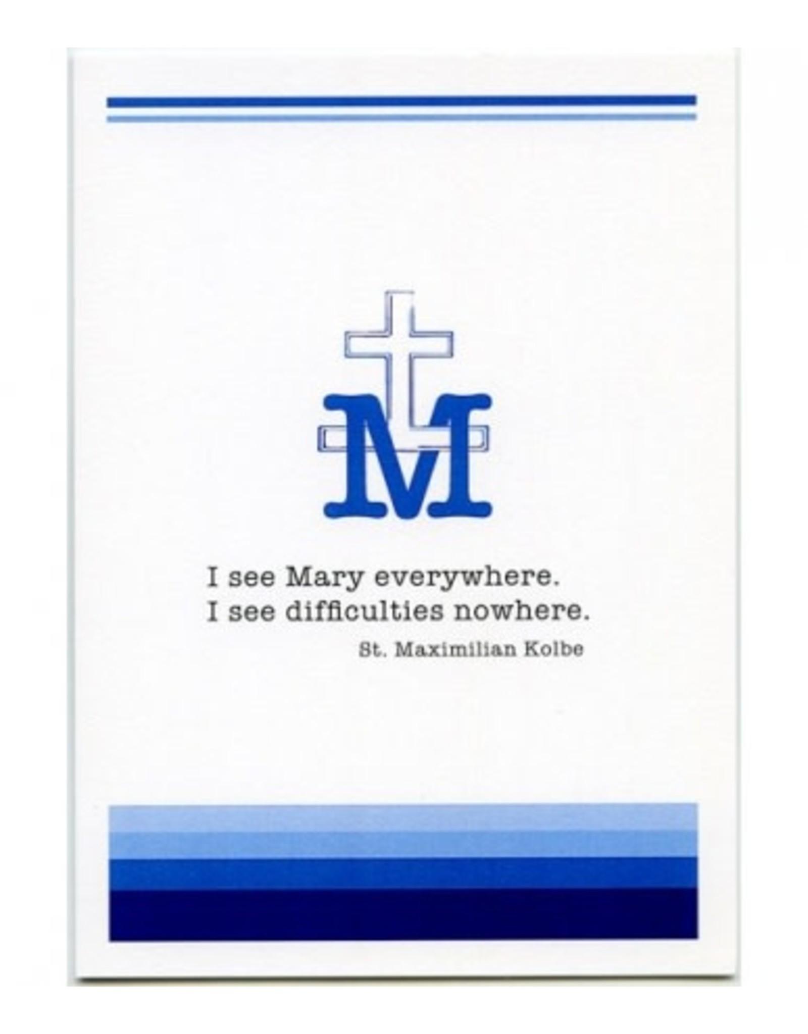 Card Maximilian Kolbe/I See Mary