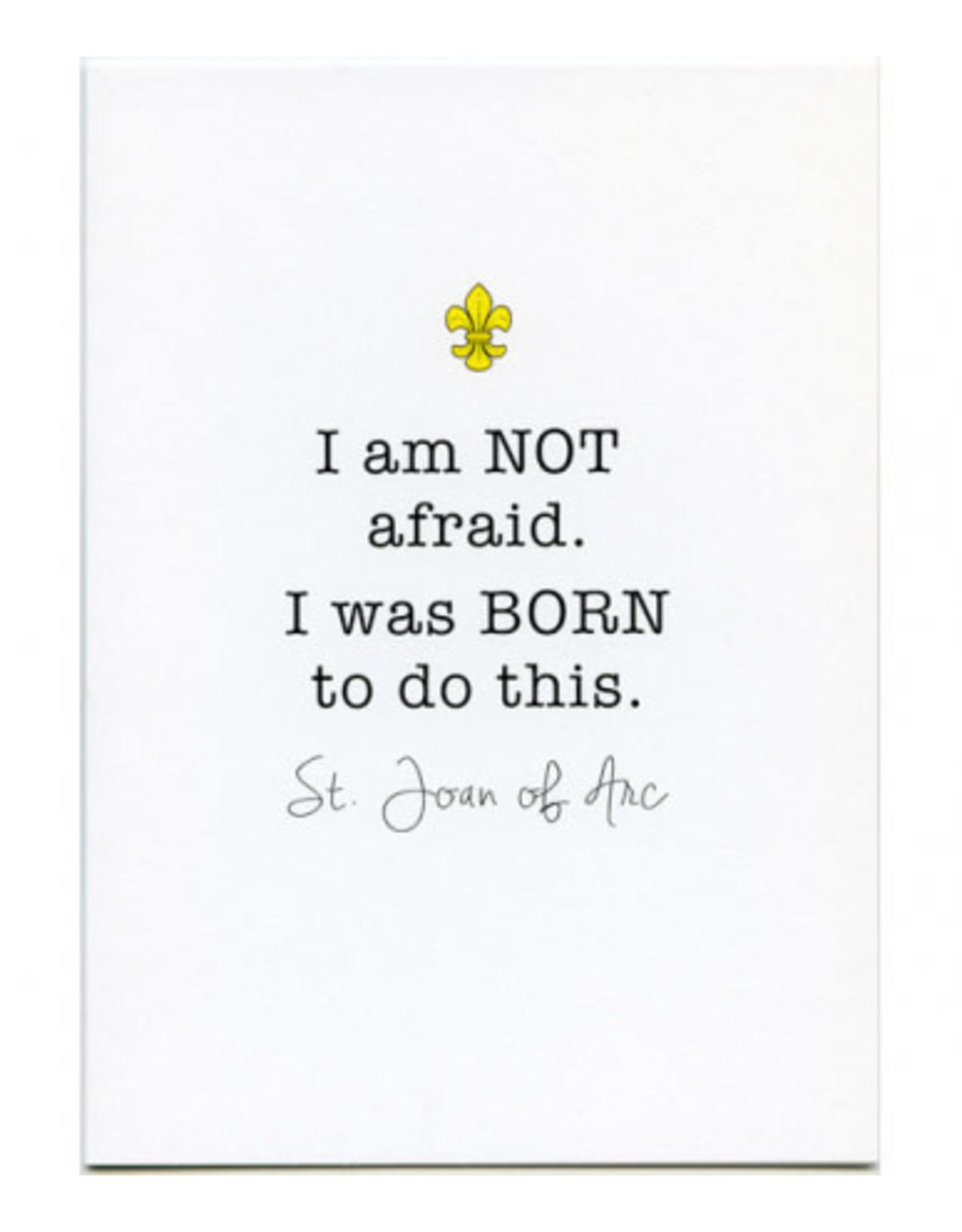 Card Joan of Arc/I am Not Afraid
