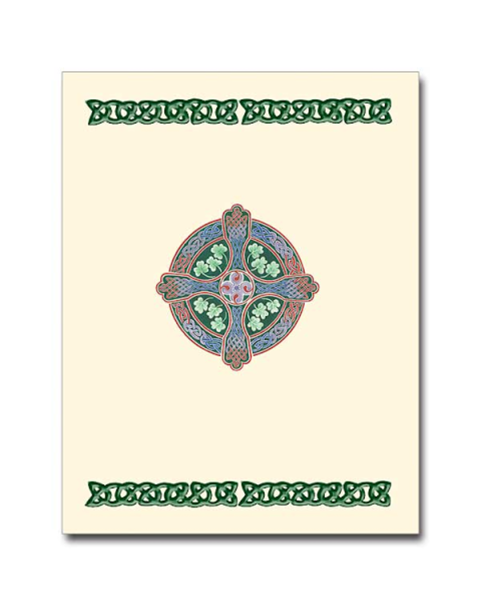 Boxed Cards - Deluxe Shamrock Cross (12)