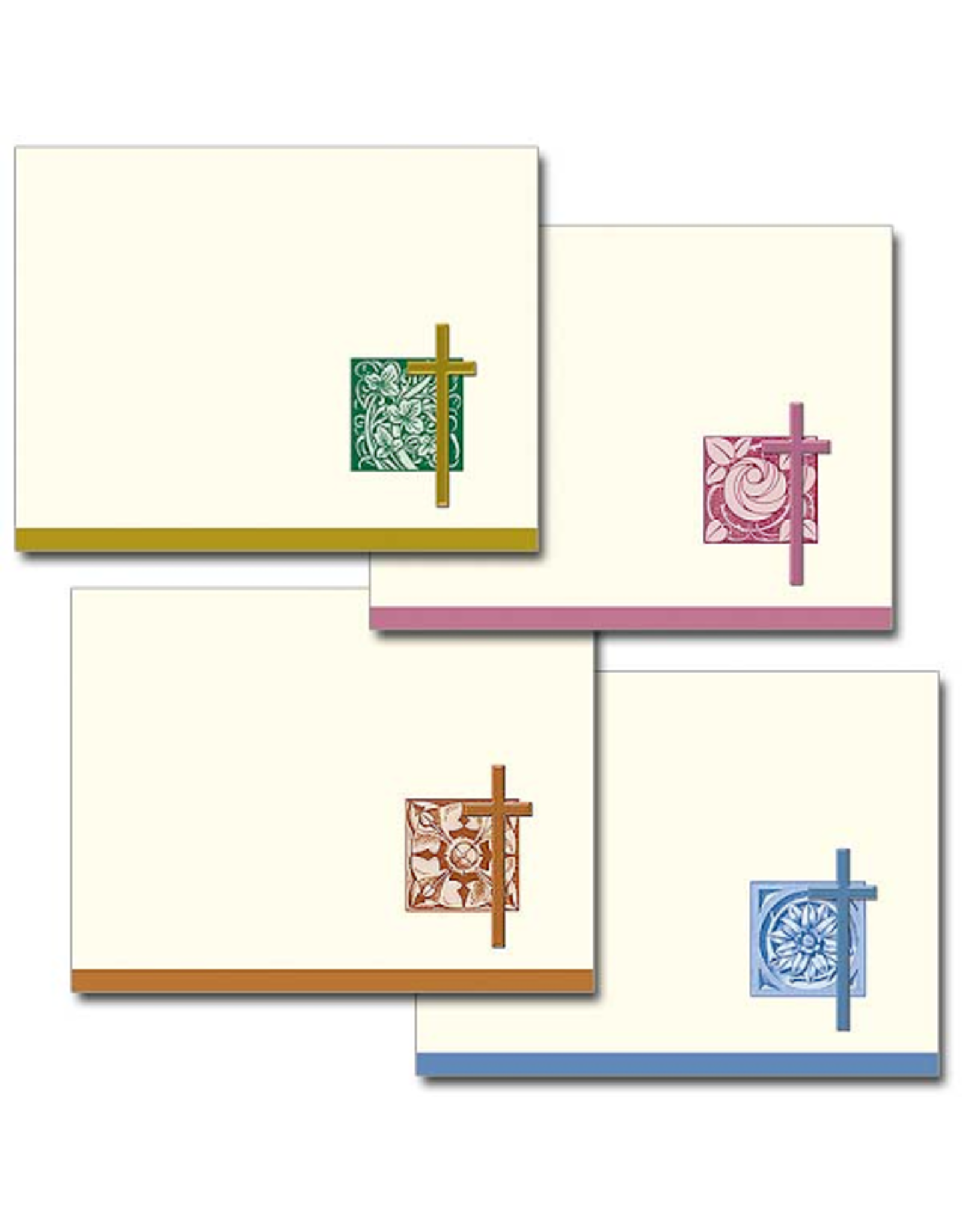 Boxed Cards - Assorted Cross (Pack of 12-3 each of 4 Designs)