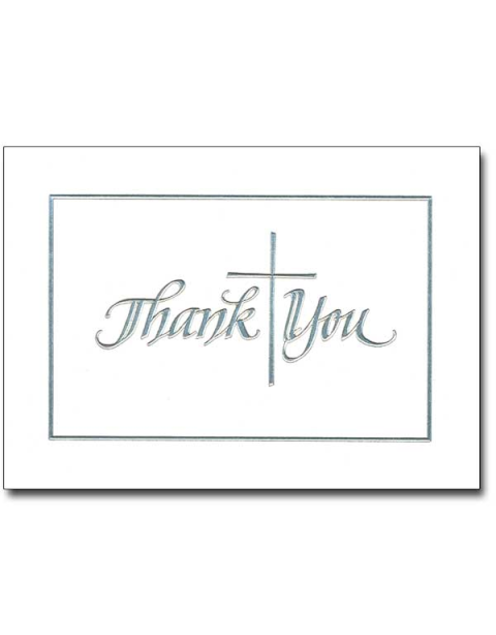Boxed Cards - Thank You Silver Cross (10)
