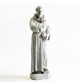 """Statue St. Francis Holding Cross 38"""""""