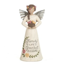 """8"""" Angel Figurine - Family is Life's Greatest Blessing"""