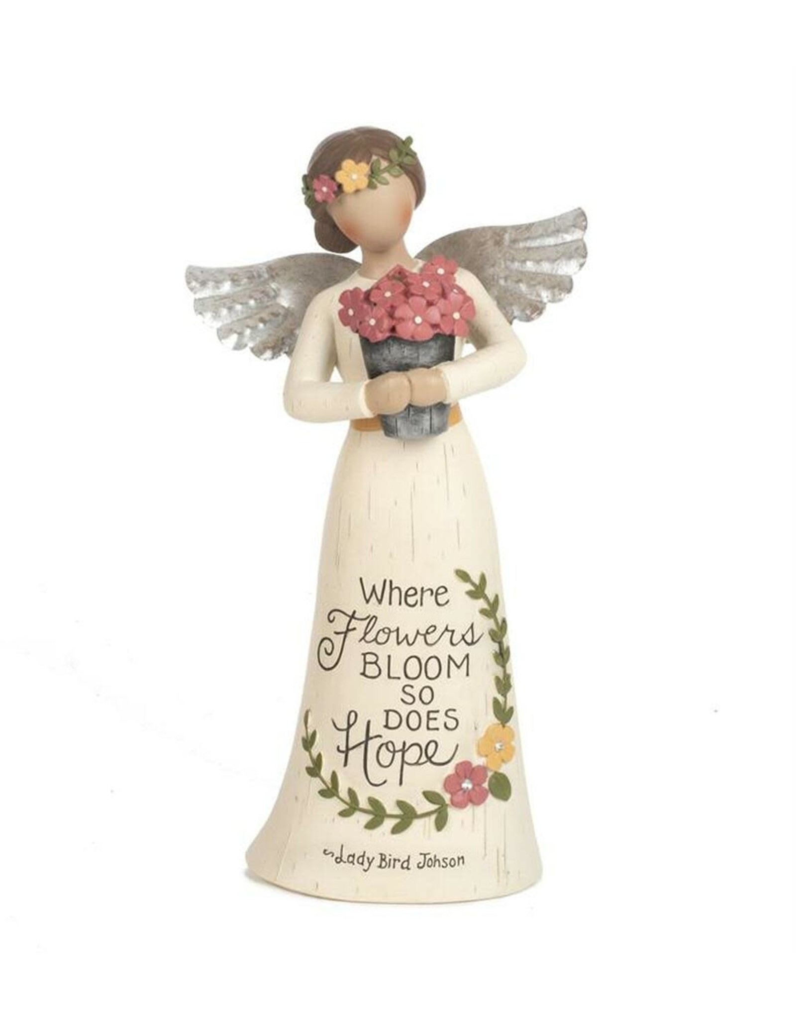 "8"" Angel Figurine - Where Flowers Bloom"