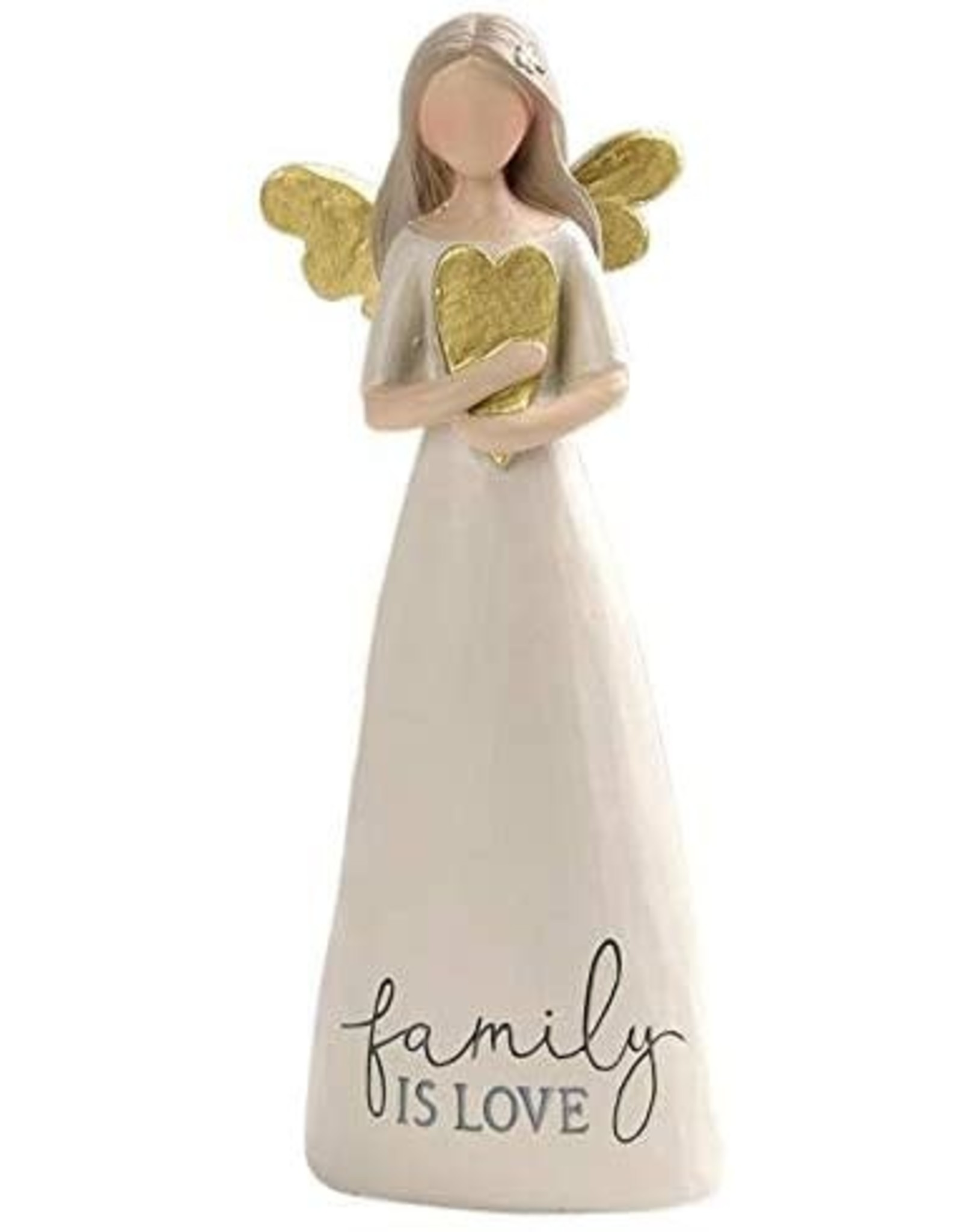 """Angel Holding Heart - Family is Love (6"""")"""
