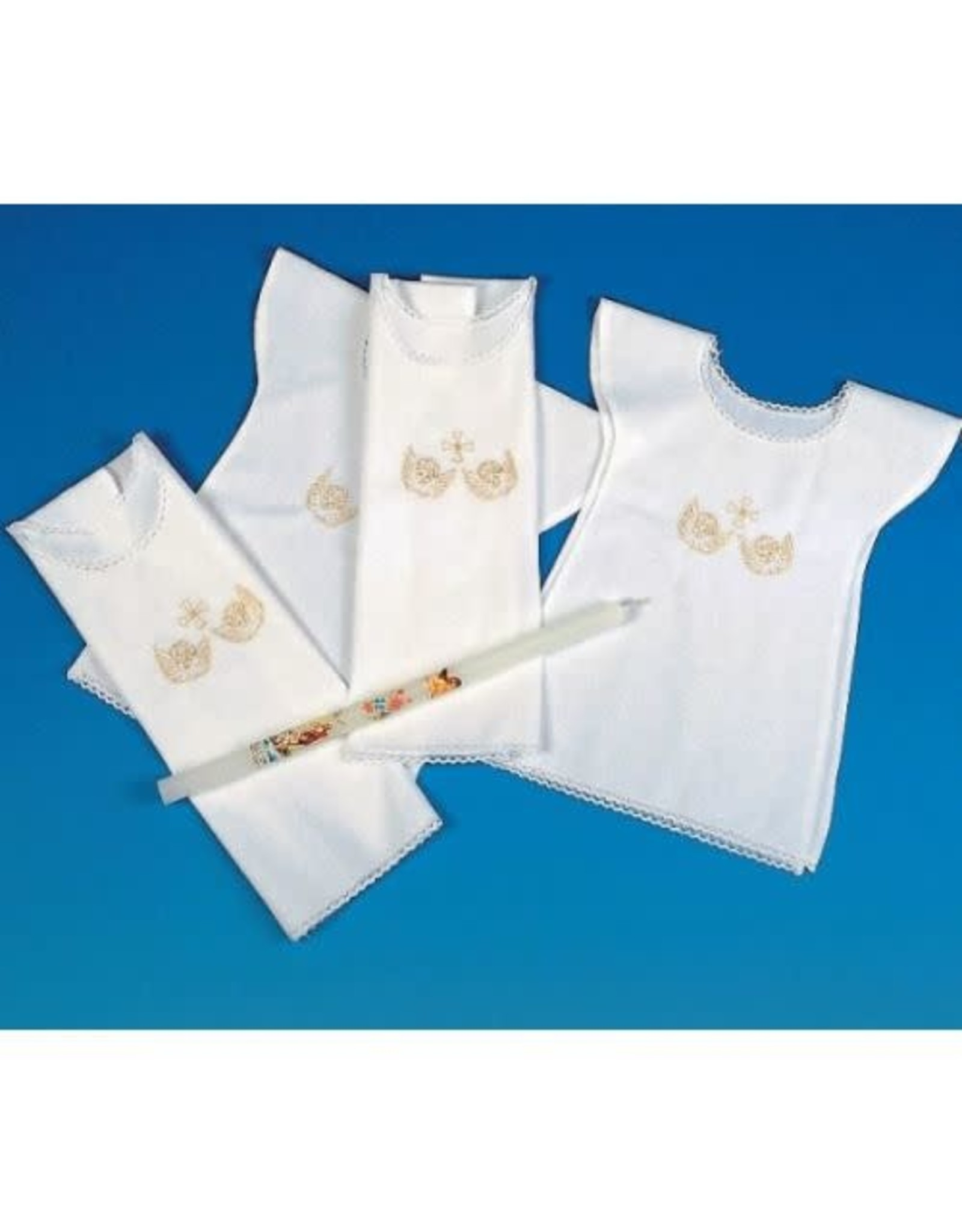 Baptism Bib - Embroidered Angels