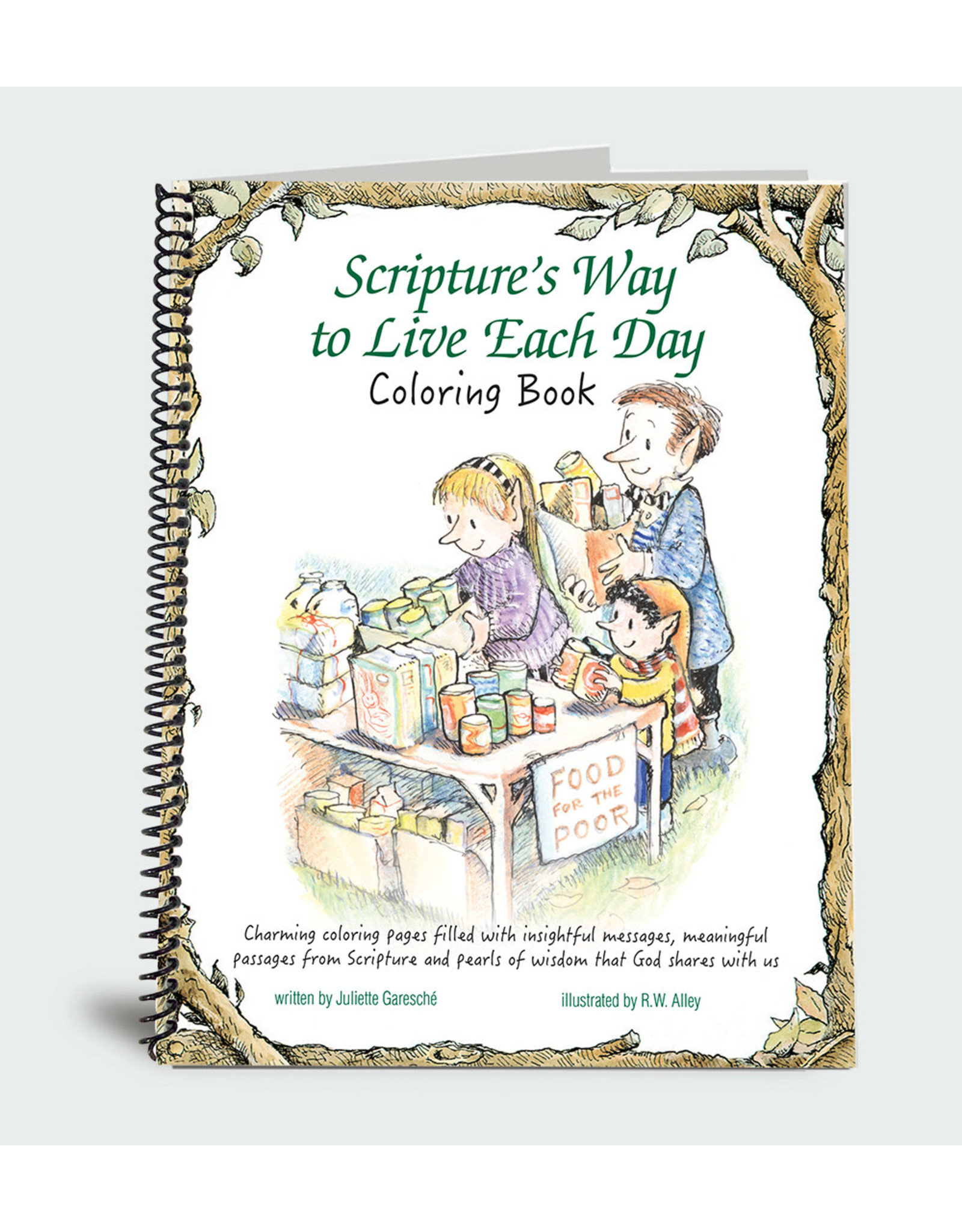 Elf Help Coloring Book - Scripture's Way to Live Each Day