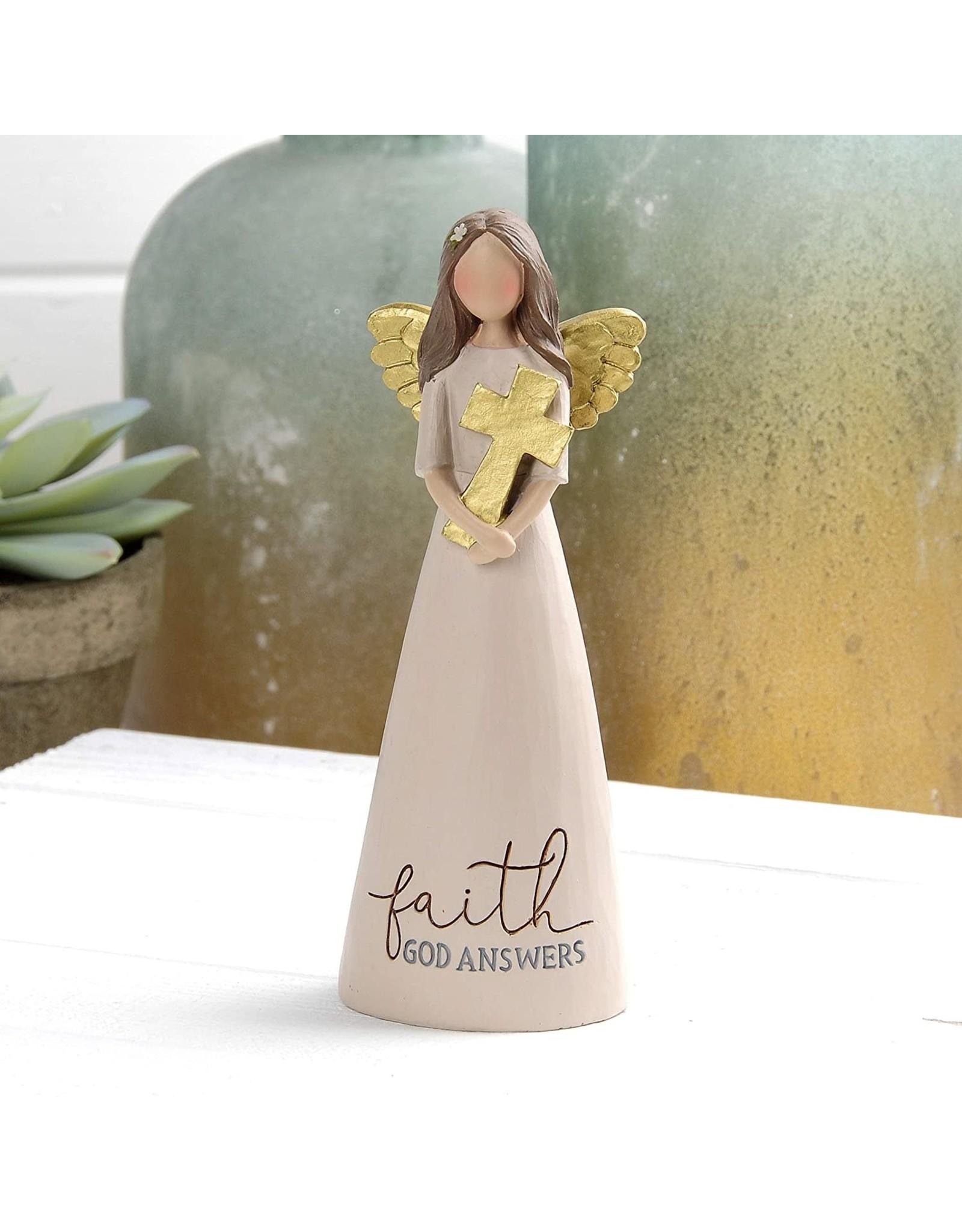 """Angel Holding Cross - Faith God Answers (6"""")"""