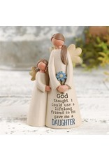 """Angel Figurine - Mother with Daughter (4"""")"""