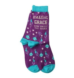 Bless My Sole Socks - Amazing Grace, Floral