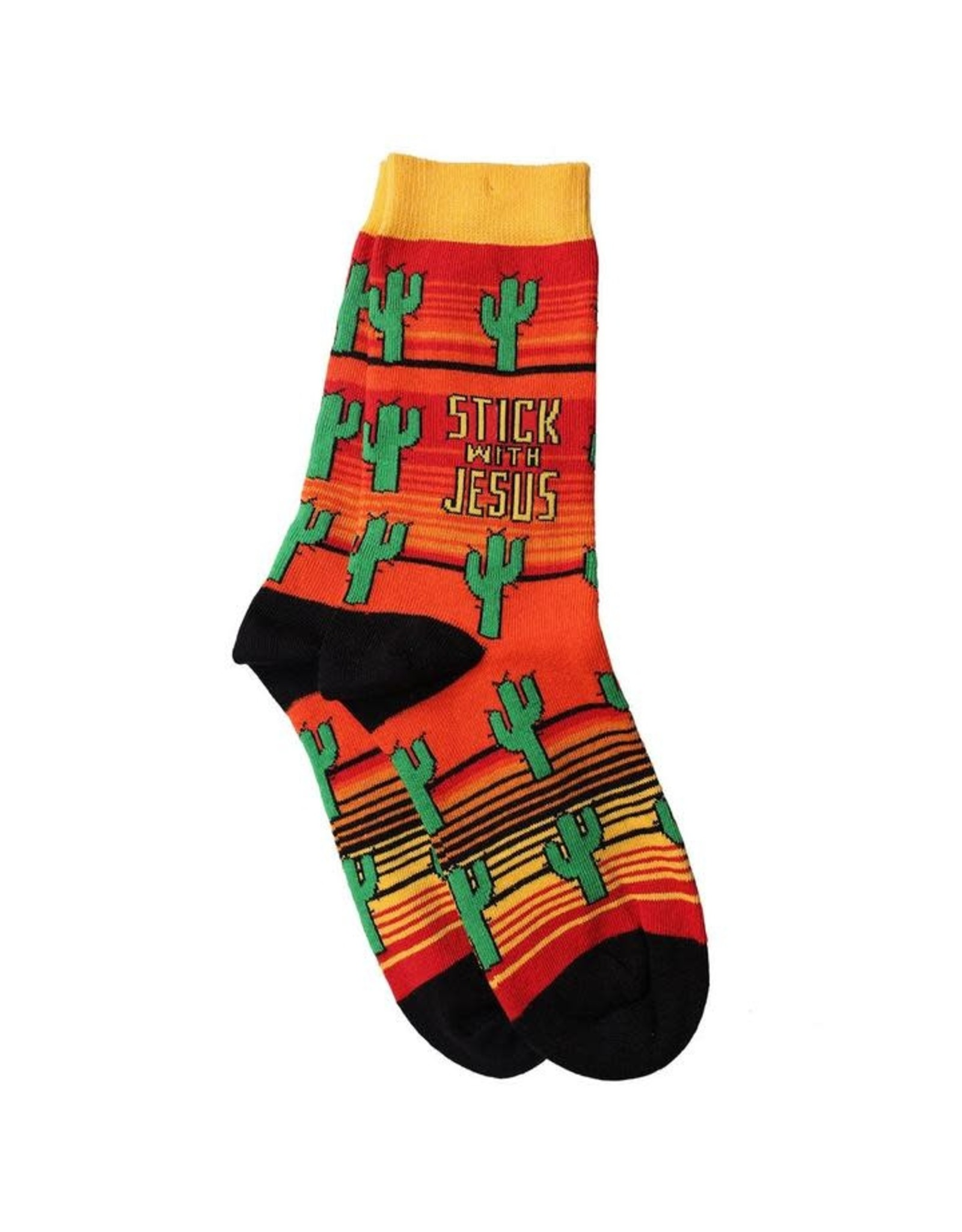 Bless My Sole Socks - Cactus (Stick with Jesus)