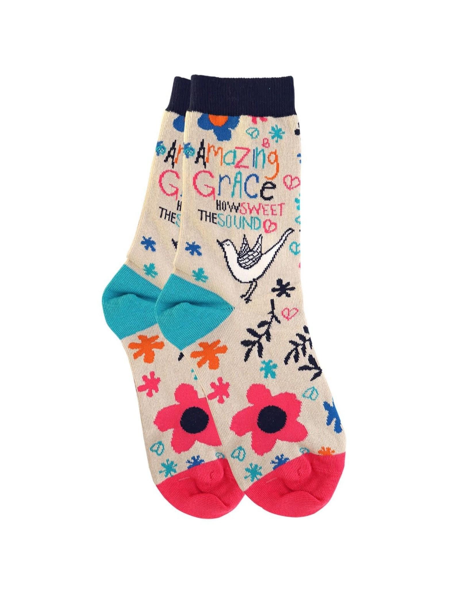 Bless My Sole Socks - Amazing Grace, Bird