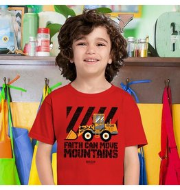 Kids Shirt - Tractor, Faith Can Move Mountains